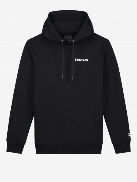 hoodie met sustain-artwork op de rug