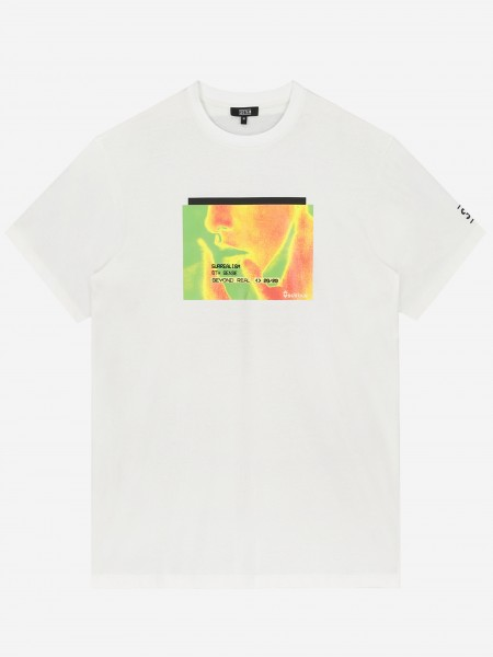 Effen t-shirt met artwork
