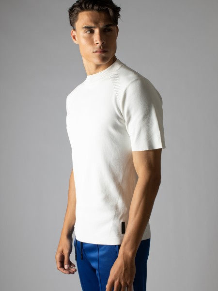 Reverse Crewneck Knit Shirt