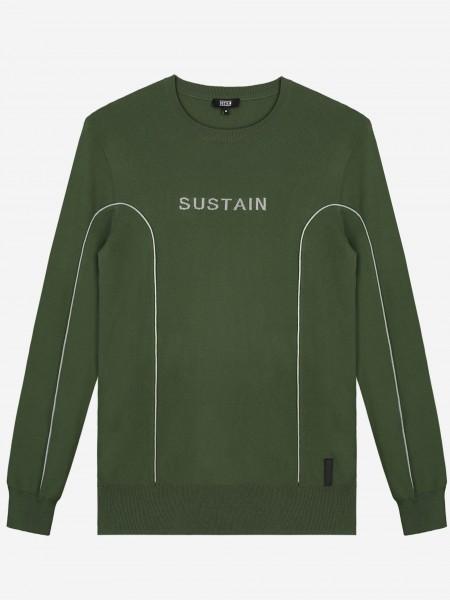 Fijn gebreide trui met SUSTAIN logo