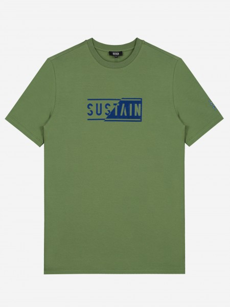Groen t-shirt met logo artwork