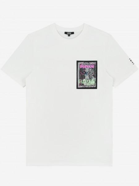 Off white t-shirt met artwork