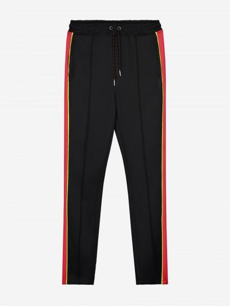 Zwarte joggingbroek met rood en geel