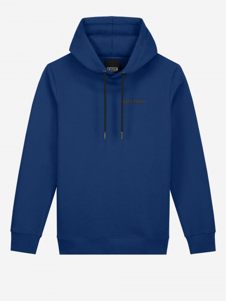 hoodie met sustain-logo