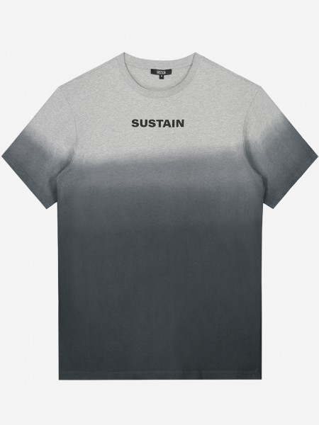 SUSTAIN logo t-shirt met overflow
