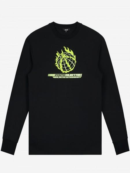 Lange mouwen shirt met artwork en klein logo