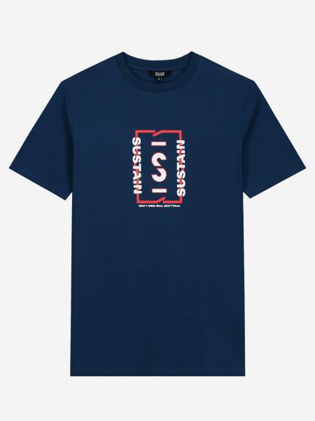 t-shirt met grafisch sustain-logo