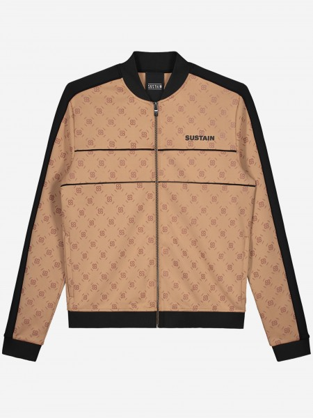 Track jacket met all over S logo