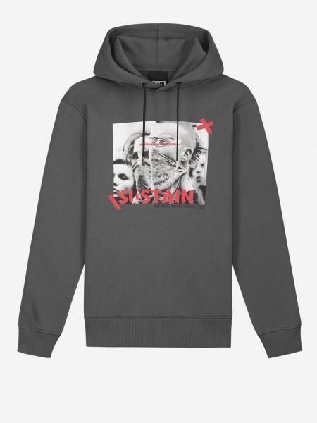 Loose fit hoodie met logo artwork