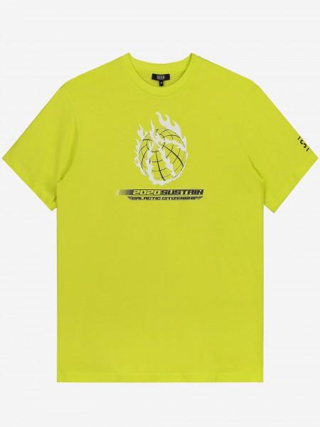 T-shirt met artwork en klein logo