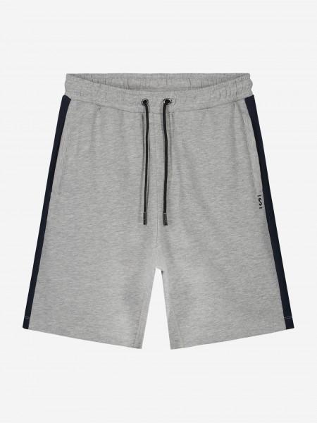 Grijze shorts met zwarte bies