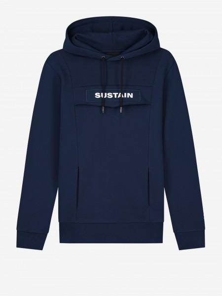 Blauwe hoodie met logo