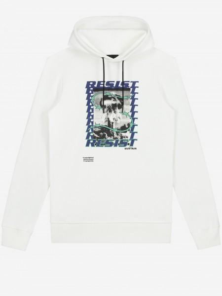 Witte hoodie met artwork