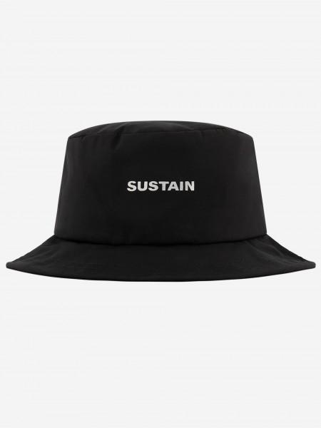 Zwarte bucket hat met artwork