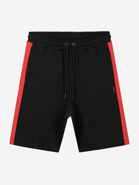 Zwarte shorts met rode bies